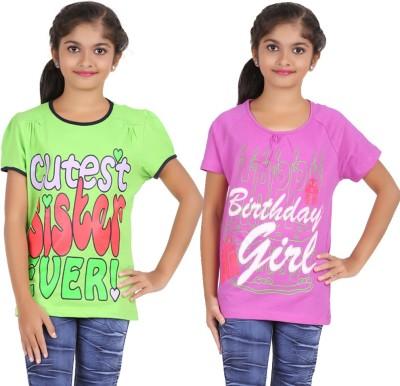 Maringo Printed Girl,s Round Neck T-Shirt