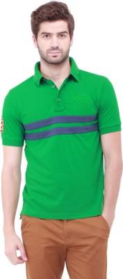 Jogur Solid Men's Polo Neck Reversible Green T-Shirt