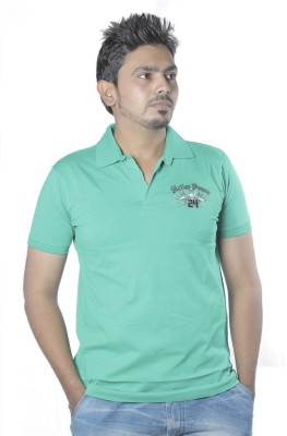 Poonam Printed Men's Polo Green T-Shirt