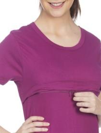 Goldstroms Solid Women's Round Neck Pink T-Shirt