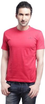Cross Creek Solid Men's Round Neck Red T-Shirt