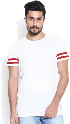 Hubberholme Solid Men's Round Neck White T-Shirt
