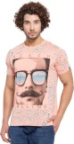 Garcon Printed Men's Round Neck Orange T...