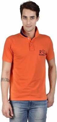 Royal Sport League Solid Men's Polo Neck Orange T-Shirt