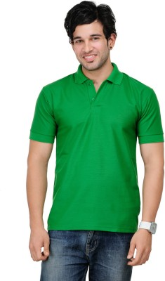 TSX Sportsman Solid Men's Polo Green T-Shirt