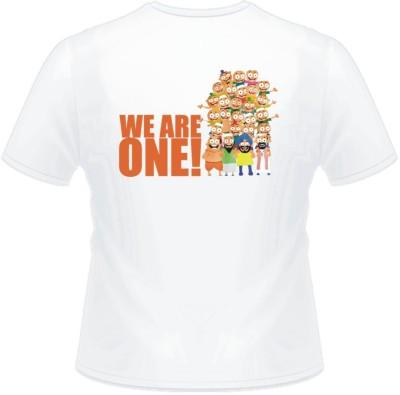 Lycra Graphic Print Men's Round Neck T-Shirt