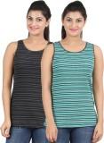 Hoodz Striped Women's Round Neck Multico...