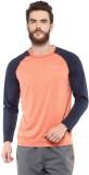 Aurro Solid Men's Round Neck Orange T-Sh...