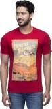 Campty Plus Printed Men's Round Neck Red...