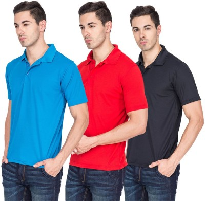 River Nation Solid Men's Polo Neck T-Shirt