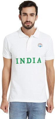 The Indian Solid Men's Polo Neck T-Shirt