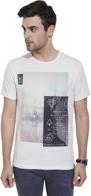 Slub By INMARK Graphic Print Men's Round Neck Beige T-Shirt