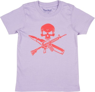 Master Champs Printed Boy's Round Neck T-Shirt