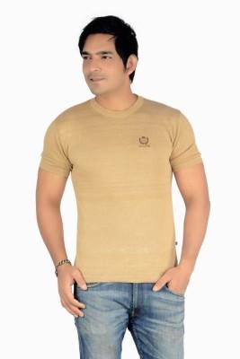 Core Solid Men's Round Neck Red, Black, White, Beige T-Shirt