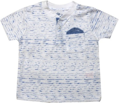 Big Tree Printed Baby Boy's Round Neck White T-Shirt