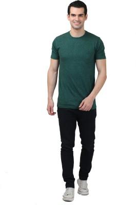 HASH TAGG Self Design Men's Round Neck Green T-Shirt