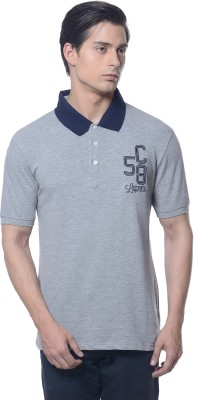 Carve Solid Men's Polo Neck Grey T-Shirt