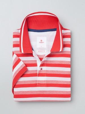 INVICTUS Striped Men's Polo Neck Red T-Shirt