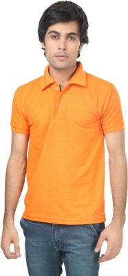 Stylish Trotters Solid Men's Polo Orange T-Shirt