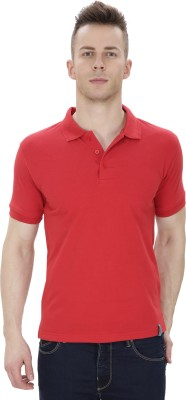 IZOR Solid Men's Polo Neck Red T-Shirt