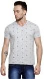 Mudo Striped Men's Polo Neck Grey T-Shir...