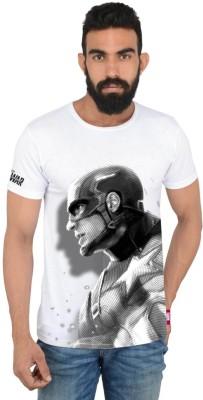 Marvel Printed Men's Round Neck Multicolor T-Shirt