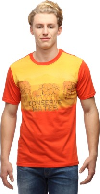 Wolfpack Printed Men's Round Neck T-Shirt