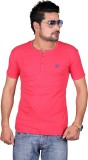 Cute Collection Solid Men's Round Neck R...