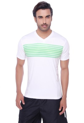 Valentine Solid Men's V-neck White T-Shirt