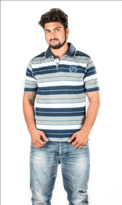 Prateek Exports Printed Men's Polo Neck Multicolor T-Shirt