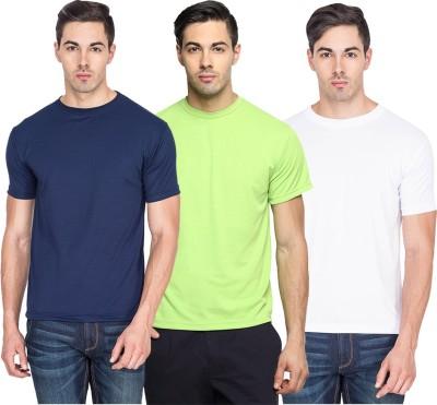 River Nation Solid Men's Round Neck Multicolor T-Shirt