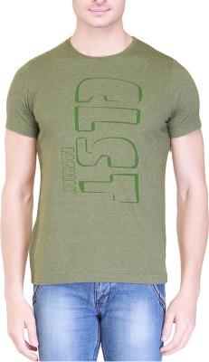 Clst Solid Men's Round Neck Green T-Shirt