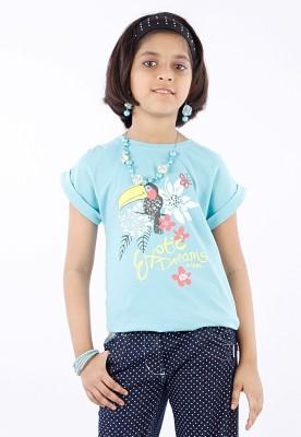 Milou Graphic Print Baby Girl's Round Neck T-Shirt