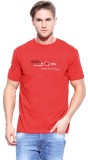 ORKO Solid Men's Round Neck Red T-Shirt