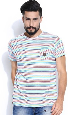 Jn Joy Striped Men's V-neck T-Shirt