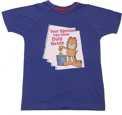 Garfield Printed Boy's Round Neck T-Shirt