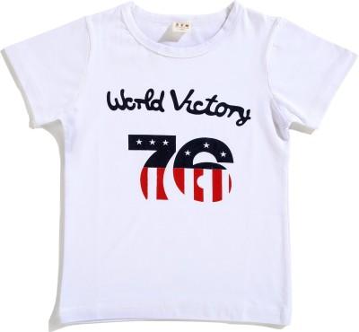 Zonko Style Solid Baby Girl's Round Neck White T-Shirt