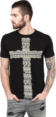PUNK Printed Men,s Round Neck Black T-Shirt