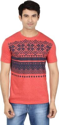 Minute Merge Printed Men's Round Neck Pink, Blue T-Shirt