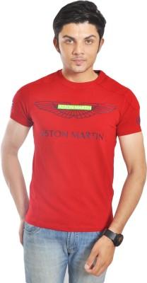 Hackett Graphic Print Men's Round Neck Red T-Shirt