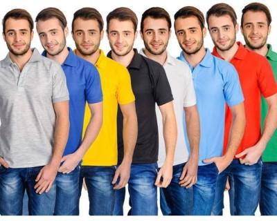 shrayst fashion Solid Men,s, Boy's Polo Multicolor T-Shirt
