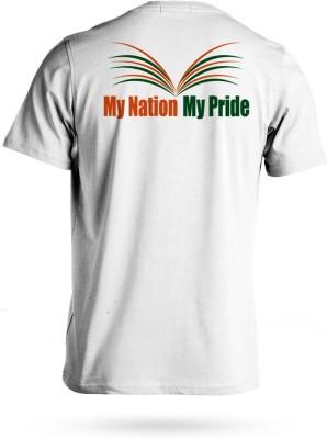 Lokahitam Printed Men,s, Women's Round Neck White T-Shirt