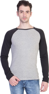 14forty Solid Men's Round Neck Grey T-Shirt