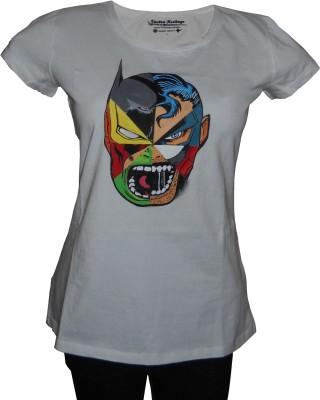 Vastra Heritage Self Design Women's Round Neck T-Shirt