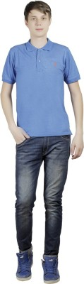 Clive Rogers Solid Men's Polo Blue T-Shirt