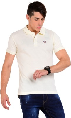 Sting Solid Men's Polo Beige T-Shirt