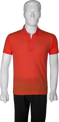 SelfieSeven Solid Men's Polo Red T-Shirt