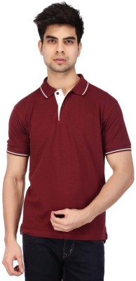 ACROPOLIS by Shoppers Stop Solid Men's Polo Multicolor T-Shirt