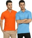Fundoo-T Solid Men's Polo Neck Light Blu...