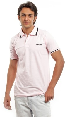 BG69 Solid Men's Polo Pink T-Shirt